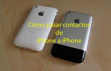 Cómo pasar contactos de iPhone a iPhone en menos de 1 minuto