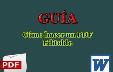 Cómo hacer un PDF editable que se pueda rellenar después
