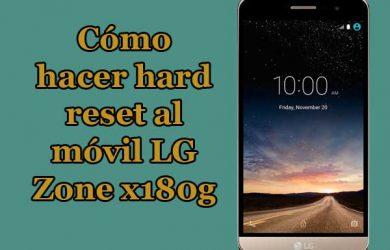 Guía paso a paso para hacer hard reset al móvil LG Zone x180g