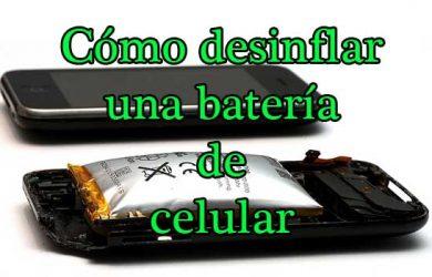 Cómo desinflar una bateria de celular hinchada en pocos segundos